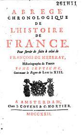 Abrégé chronologique de l'histoire de France: Volume7