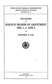 Decisions Railway Board of Adjustment: Issues 1-3