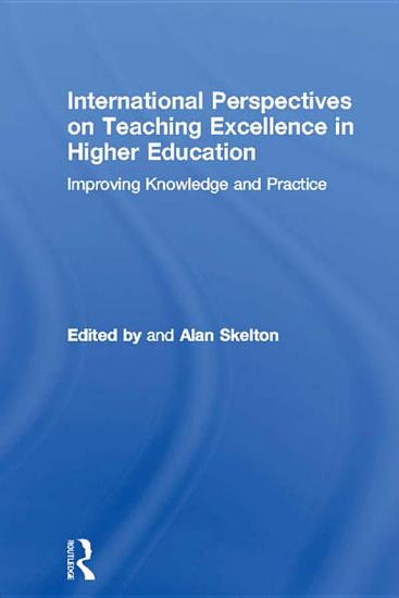 International Perspectives on Teaching Excellence in Higher Education PDF