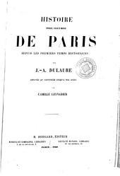 Histoire physique, civile et morale de Paris: depuis les premiers temps historiques, Volume1