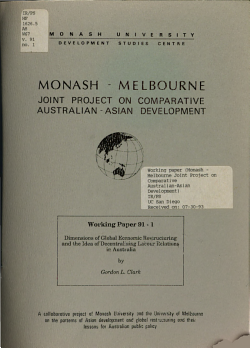 Dimensions of Global Economic Restructuring and the Idea of Decentralising Labour Relations in Australia PDF