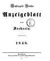 Großherzoglich Badisches Anzeige-Blatt für den See-Kreis: 1848