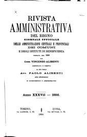 Rivista amministrativa del regno: Volume 37