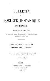 Bulletin de la Société botanique de France: Volume39