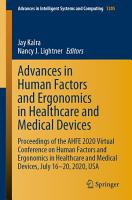 Advances in Human Factors and Ergonomics in Healthcare and Medical Devices PDF