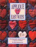 Appliqu   12 Easy Ways  Book