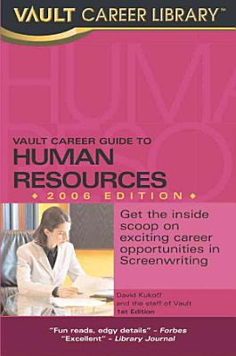 Vault Guide to Human Resources Careers PDF