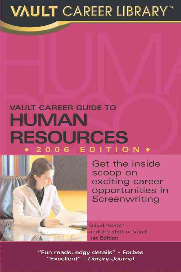 Vault Guide to Human Resources Careers