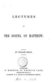 Lectures on the Gospel of Matthew
