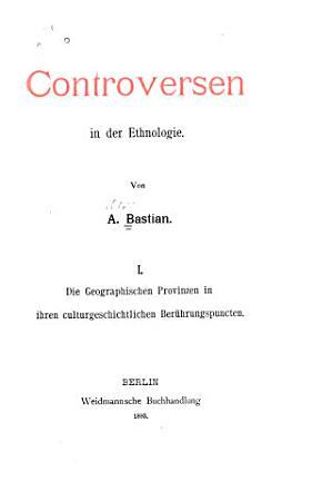 Controversen in der ethnologie PDF