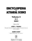 Encyclopedia of Actuarial Science PDF