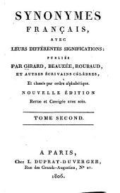 Synonymes français avec leurs différentes significations: Volume2
