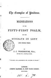 The exemplar of penitence, meditations on the fifty-first Psalm