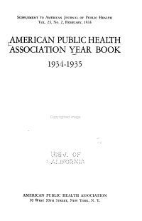 American Public Health Association Year Book PDF