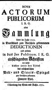 Nova Actorum Publicorum