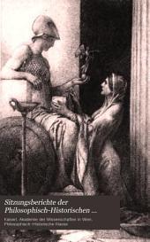 Sitzungsberichte der Philosophisch-Historischen Classe der Kaiserlichen Akademie der Wissenschaften: Band 113