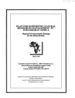 Plan for Supporting Natural Resources Management in Sub Saharan Africa PDF