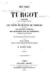 Oeuvres de Turgot: Volume1