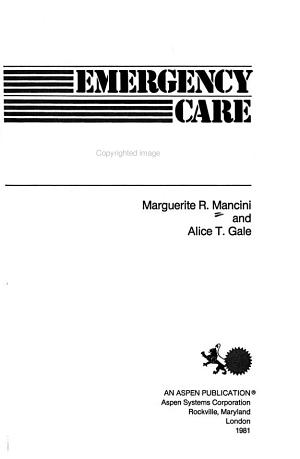 Emergency Care and the Law PDF