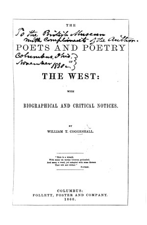 The Poets and Poetry of the West