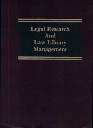 Legal Research and Law Library Management PDF