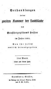 Verhandlungen der Zweiten Kammer der Landstände des Großherzogthums Hessen: 1821,7,[a]