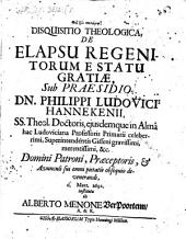 Disp. de elapsu regenitorum e statu gratiae