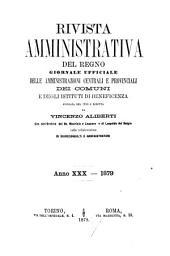 Rivista amministrativa della Repubblica italiana: Volume 30