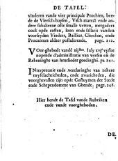 Costvmen der stede ende schependomme van Ghendt, by der coninghlicke m.t gheconfirmeert den xxiij. dagh van decembrj. XVc LXIII.
