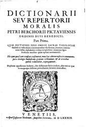 Dictionarium seu repertorium morale. Nova ed. ab erroribus repurgata: Volume 1