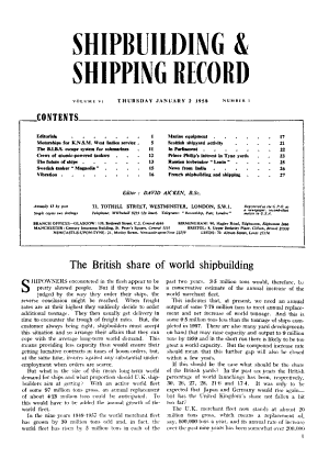 Shipbuilding and Shipping Record