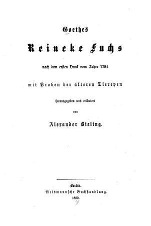 Reineke Fuchs PDF