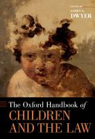 The Oxford Handbook of Children and the Law PDF