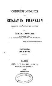 Correspondance de Benjamin Franklin: Volume3