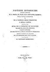 Notizie istoriche delle chiese di S. Maria in Julia di S. Giovanni Calabita nell'Isola Licaonia