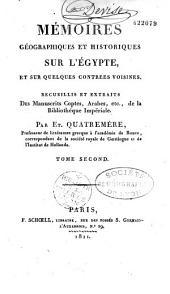 Mémoires géographiques et historiques sur l'Egypte et sur quelques contrées voisines