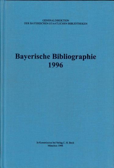 Bayerische Bibliographie 1996  PDF