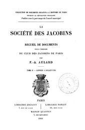 La société des Jacobins: Janvier à juillet
