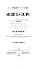 De la construction et de l'emploi du microscope ... traduction ... par C. Chevalier
