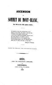 Ascension au sommet du Mont-Blanc: le 22 et le 23 août 1837