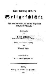 Karl Friedrich Becker's Weltgeschichte: Bände 3-4