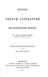 History of French Literature in the Eighteenth Century