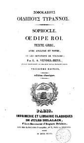 Oedipe Roi: tragédie
