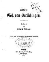 Erläuterungen zu Goethes Werken: ) 6. Gotz von Berlichingen
