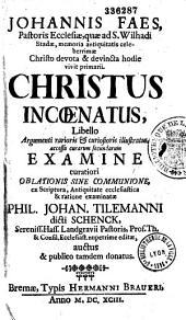 Obellus peregrinati communionis peregrinae Phil. Joh. Tilemanni dicti Schencki