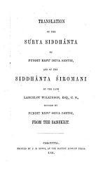 Translation of the Súrya Siddhánta