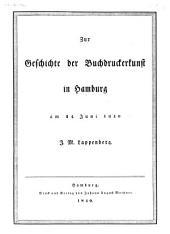 Zur Geschichte der Buchdruckerkunst in Hamburg