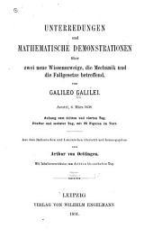 Unterredungen und mathematische demonstrationen über zwei neue wissenszweige, die mechanik und die fallgesetze betreffend: Band 3