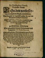 Wahrhafter Bericht von den verbesserten Exemplaren Augsp. Confession und warumb es eigentlich zu thun sey inn dem Streit vom Heiligen Nachtmal