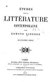 Études critiques sur la littérature contemporaine: Volume4